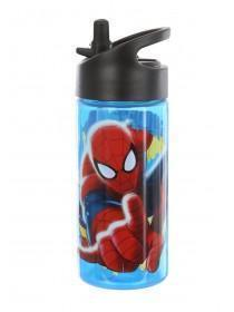 Boys Blue Spiderman Bottle