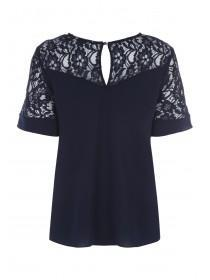 Womens Lace Flute Sleeve Top