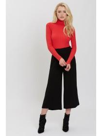 Jane Norman Black Side Button Culotte Trousers