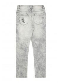 Older Boys Grey Graffiti Skinny Jeans