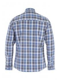 Mens Blue Check Long Sleeve Shirt