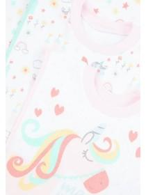 Baby Girls 3pk Popover Unicorn Bibs