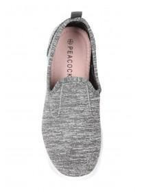 Womens Grey Slip On Trainers