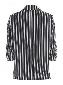 Womens Black Stripe Blazer