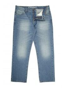Mens Mid Blue Straight Leg Entry Jeans