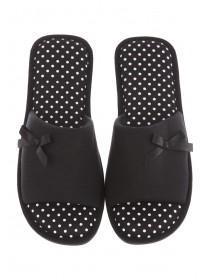Womens Black Spa Style Slipper