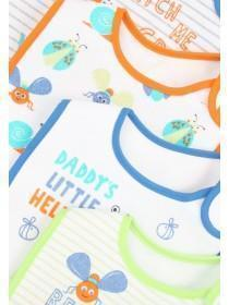 Baby Boys 5pk Bugs Bibs
