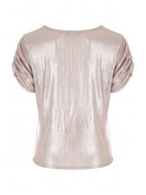 Womens Pale Pink Tie Front Top