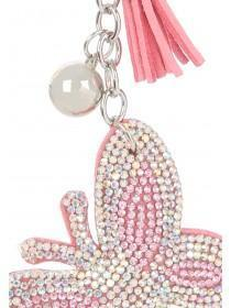 Pink Butterfly Diamante Keyring