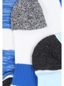 Womens 3pk Blue Sports Socks