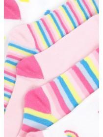 Girls 5pk Rainbow Socks