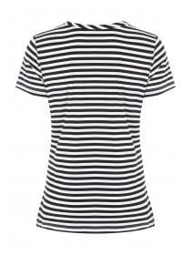 Womens Monochrome Stripe Cut Out Top