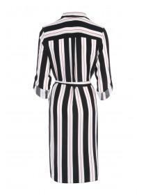 Womens Monochrome Stripe Shirt Dress