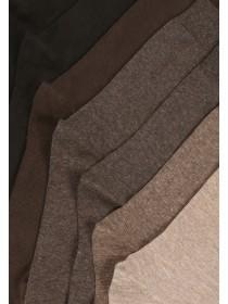 Mens 7pk Basic Brown Socks