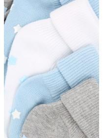 Baby Boys 5pk Plain Socks