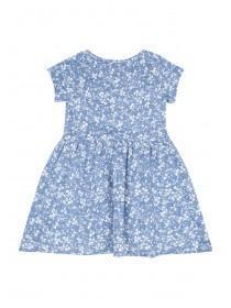Younger Girls Blue Jersey Dress