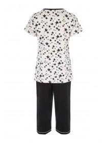 Womens Star Print Pyjama Set