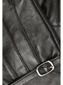 Womens Leather Buckle Glove