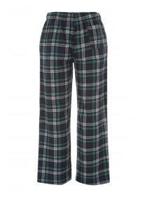 Mens Green Woven Pyjama Bottoms