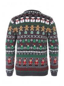 Mens Repeat Pattern Christmas Jumper