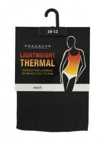 Womens Black Thermal Vest