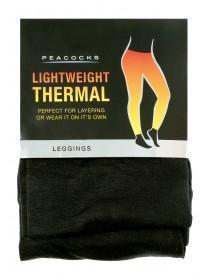 Womens Black Thermal Leggings