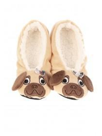 Womens Brown Pug Footlets