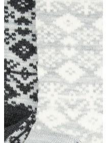 Womens 2pk Grey Thermal Socks