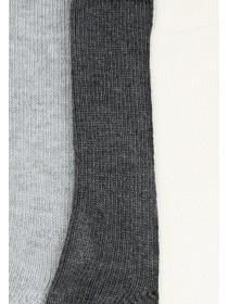 Womens 3pk Grey Socks