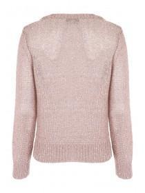 Womens Bronze Cable Knit Jumper