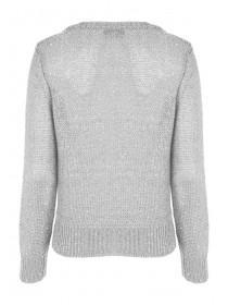 Womens Silver Cable Knit Jumper