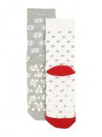 Girls 2Pk Slipper Socks