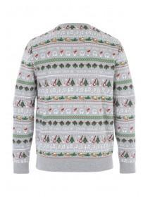 Mens Festive Print Sweater