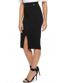 Jane Norman Black Split Pencil Skirt