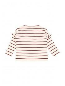 Younger Girls Cream Stripe T-Shirt