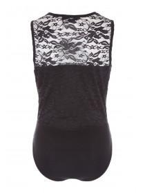 Jane Norman Black Wrap Lace Bodysuit