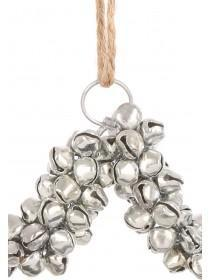 Silver Star Bell Decoration
