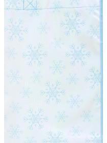 Womens Blue Metallic Snowflake Shopper Bag