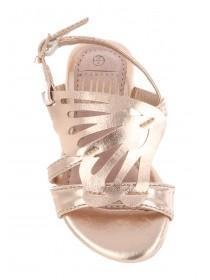 Younger Girls Gold Butterfly Sandals