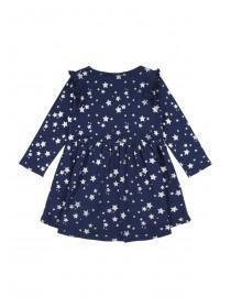 Younger Girls Blue Star Dress