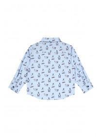 Younger Boys Blue Snowman Shirt Set