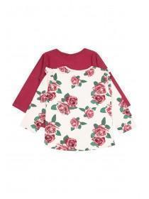 Baby Girls 2pk Rose T-Shirts