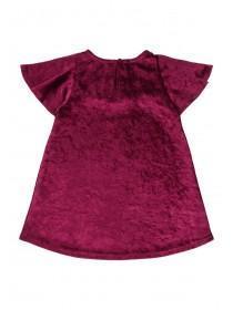 Baby Girls Velour Frill Dress