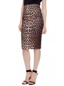 Jane Norman Leopard Print Pencil Skirt
