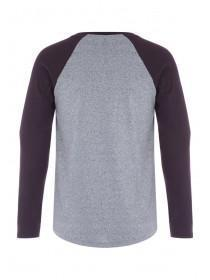 Mens Grey Long Sleeve T-Shirt