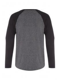 Mens Charcoal Long Sleeve Top