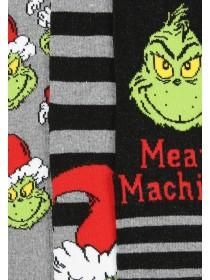 Mens 3pk Grinch Socks