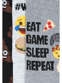 Mens 3pk Emoji Socks