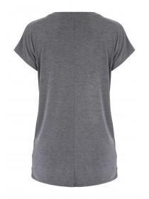 Womens Maternity Grey Nursing Top