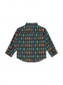 Younger Boys Robot Print Shirt Set